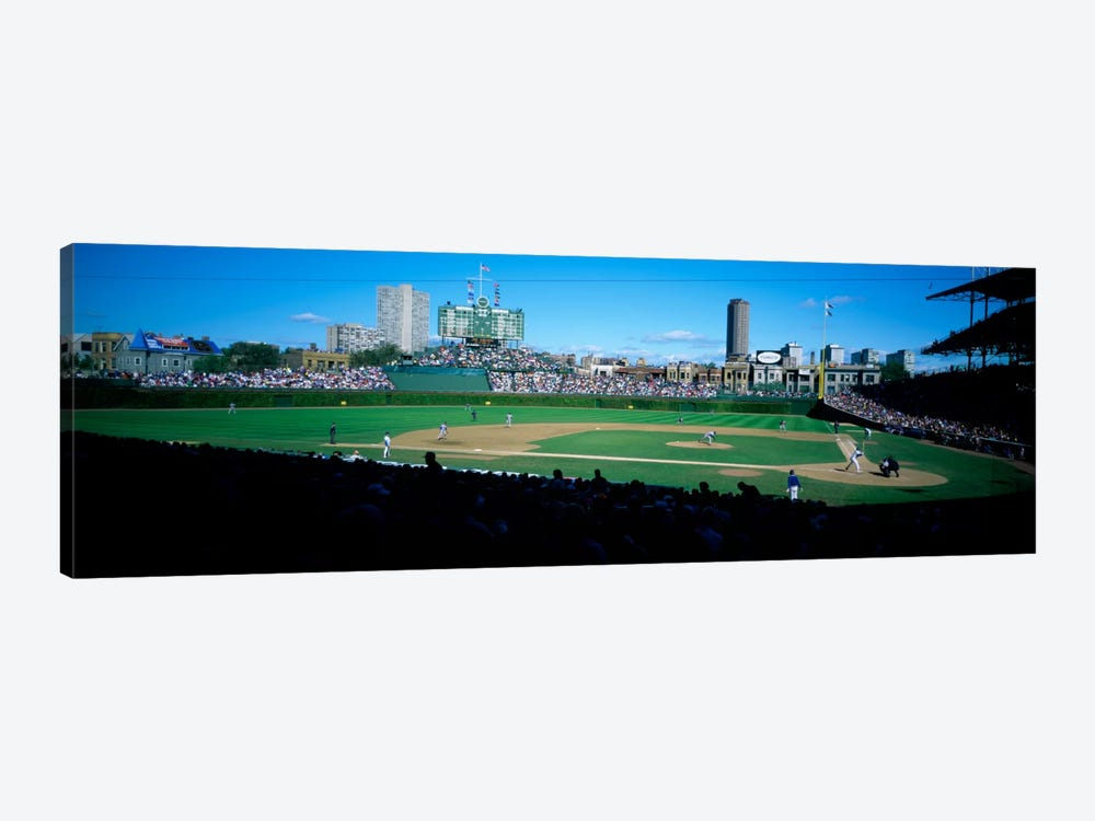Baseball match in progressWrigley Field, Chicago, Cook County, Illinois, USA by Panoramic Images 1-piece Art Print