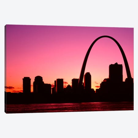 USA, Missouri, St Louis, Sunset Canvas Print #PIM2039} by Panoramic Images Canvas Wall Art