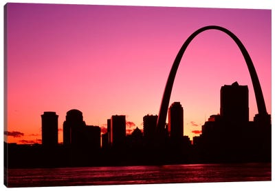 USA, Missouri, St Louis, Sunset Canvas Art Print