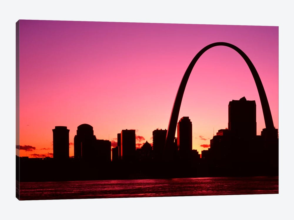 USA, Missouri, St Louis, Sunset by Panoramic Images 1-piece Canvas Artwork