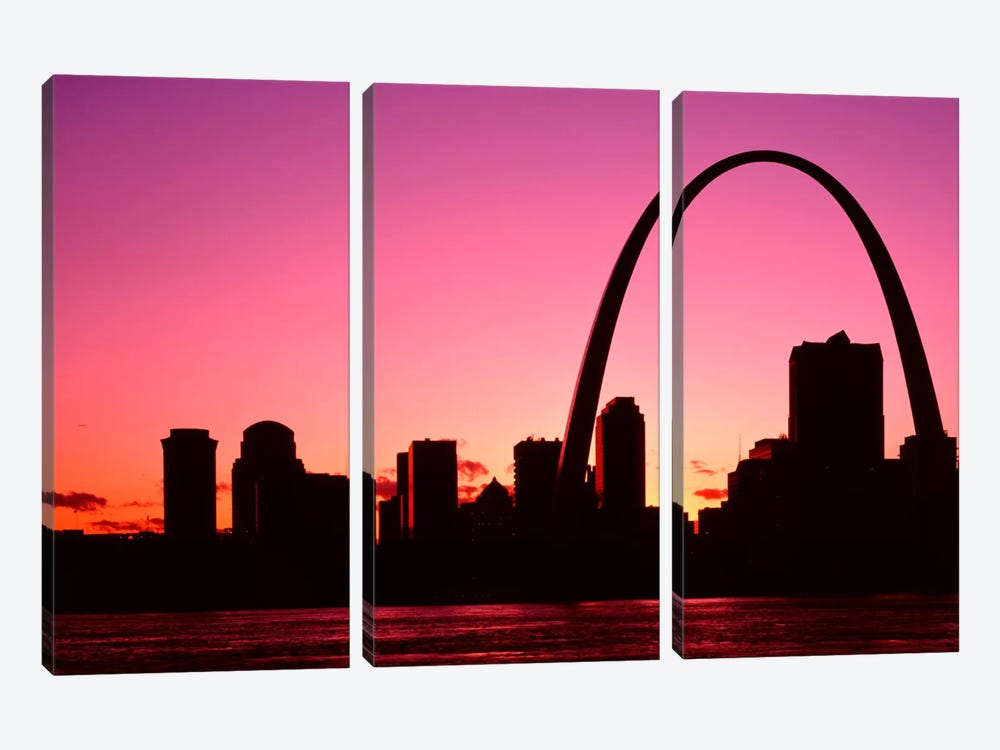 USA, Missouri, St Louis, Sunset by Panoramic Images 3-piece Canvas Wall Art