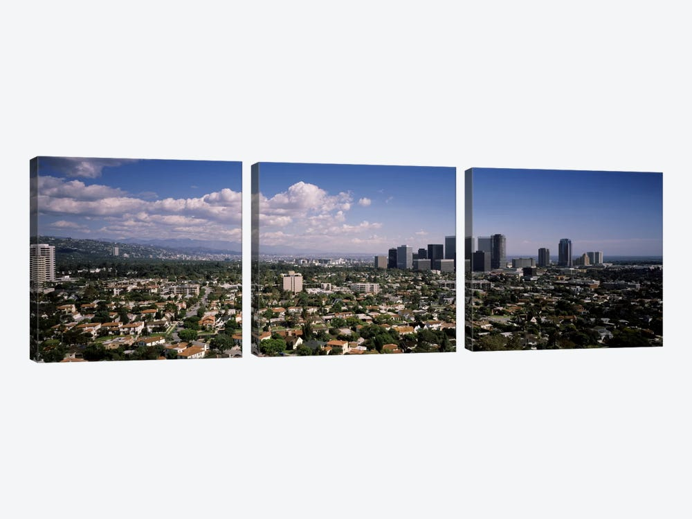 High angle view of a cityscapeCentury city, Los Angeles, California, USA by Panoramic Images 3-piece Canvas Wall Art
