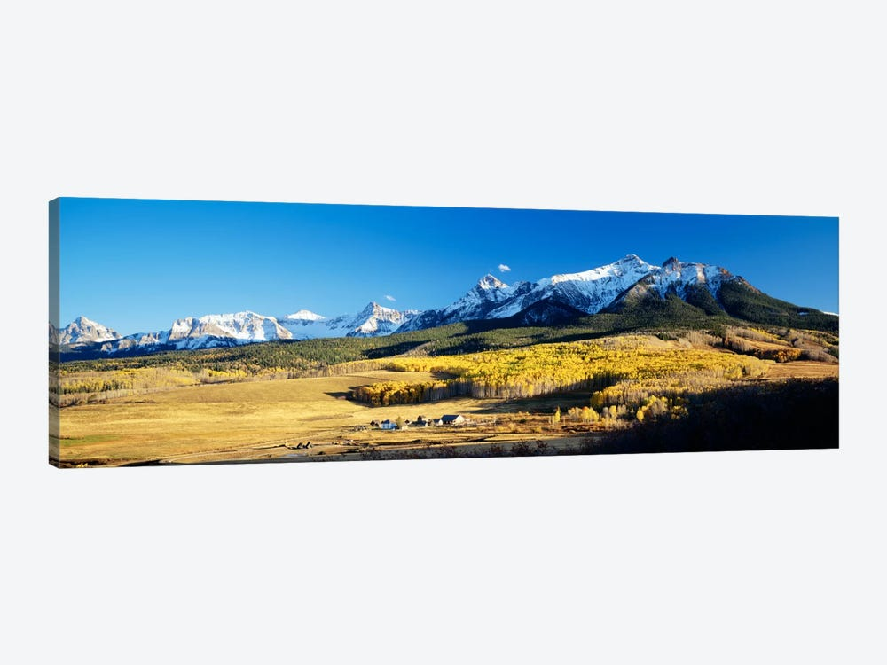 Aerial View Of Last Dollar Ranch With Sneffels Range In The Background, Colorado, USA by Panoramic Images 1-piece Canvas Print