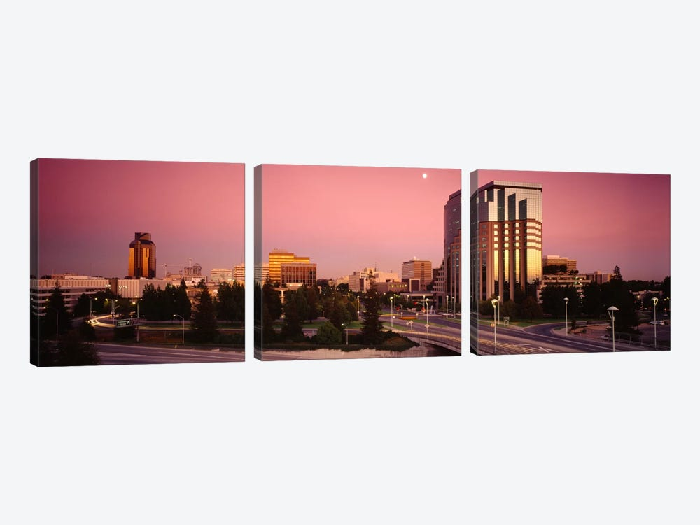 Buildings in a citySacramento, California, USA by Panoramic Images 3-piece Canvas Print