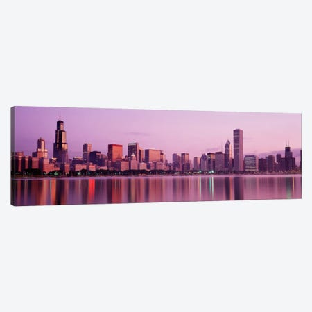 City on The waterfront, Chicago, Illinois, USA Canvas Print #PIM2052} by Panoramic Images Canvas Wall Art