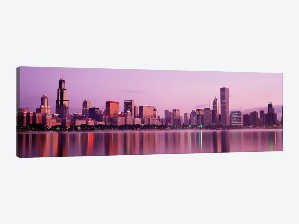 City on The waterfront, Chicago, Illinois, USA by Panoramic Images 1-piece Art Print