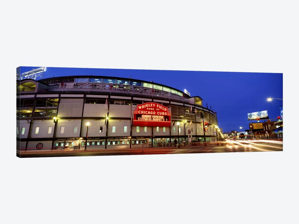 USA, Illinois, Chicago, Cubs, baseball #3 by Panoramic Images 1-piece Canvas Print