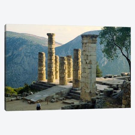 Remaining Doric Columns, Temple Of Apollo, Delphi, Greece Canvas Print #PIM2056} by Panoramic Images Canvas Print