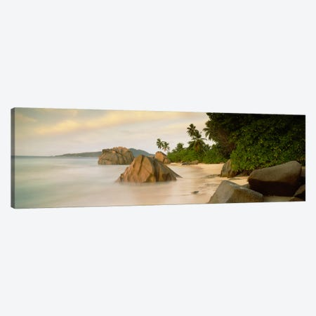 Rocks On The Beach, La Digue, Seychelles Canvas Print #PIM2058} by Panoramic Images Canvas Art