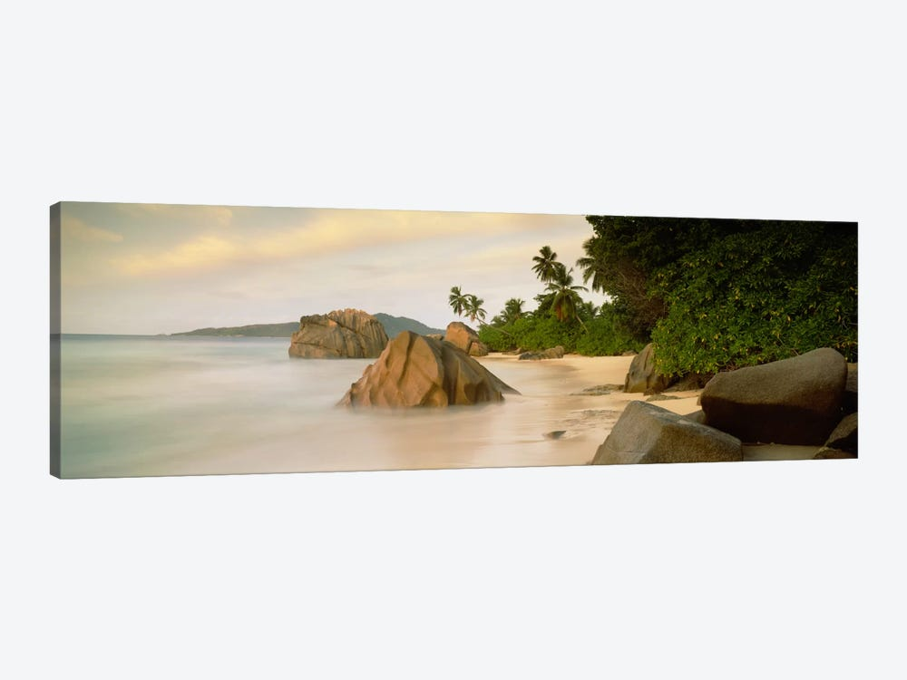 Rocks On The Beach, La Digue, Seychelles by Panoramic Images 1-piece Canvas Print