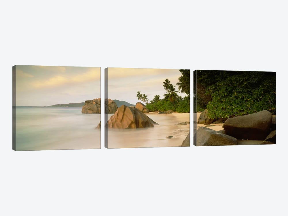 Rocks On The Beach, La Digue, Seychelles by Panoramic Images 3-piece Art Print