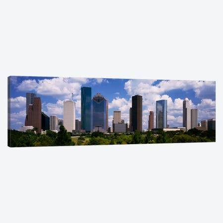 Buildings in a city, Houston, Texas, USA Canvas Print #PIM2059} by Panoramic Images Canvas Artwork