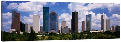 Buildings in a city, Houston, Texas, USA Canvas Art Print