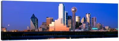 Night, Cityscape, Dallas, Texas, USA Canvas Art Print