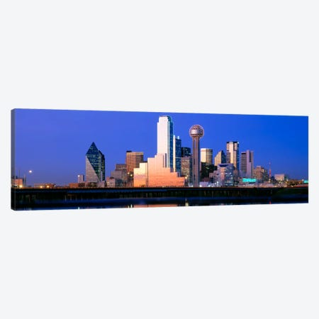 Night, Cityscape, Dallas, Texas, USA Canvas Print #PIM2060} by Panoramic Images Canvas Art Print