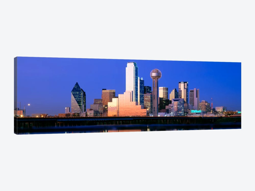 Night, Cityscape, Dallas, Texas, USA by Panoramic Images 1-piece Canvas Art