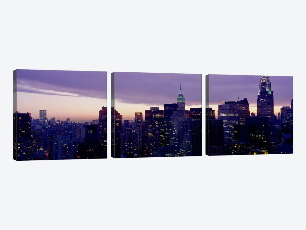 Skyline, Manhattan, New York City, New York, USA by Panoramic Images 3-piece Canvas Art