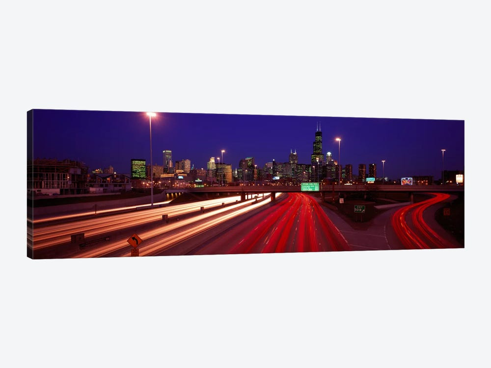 Kennedy Expressway Chicago IL USA by Panoramic Images 1-piece Canvas Art Print