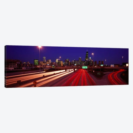 Kennedy Expressway Chicago IL USA Canvas Print #PIM2063} by Panoramic Images Canvas Art Print