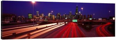 Kennedy Expressway Chicago IL USA Canvas Print #PIM2063