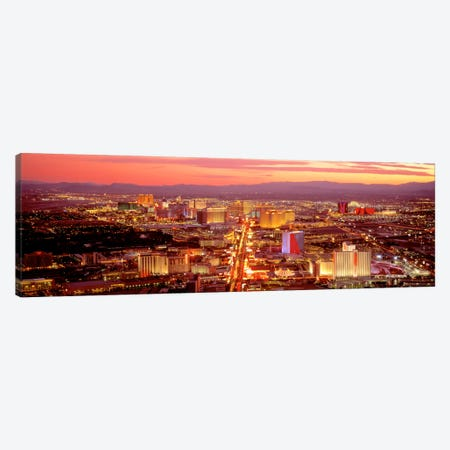 Aerial Las Vegas NV USA Canvas Print #PIM2064} by Panoramic Images Canvas Wall Art