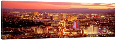 Aerial Las Vegas NV USA Canvas Art Print