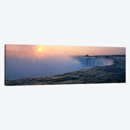 Sunrise Horseshoe Falls Niagara Falls NY USA Canvas Print #PIM2065} by Panoramic Images Canvas Wall Art