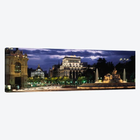 Western View From Plaza de Cibales, Madrid, Spain Canvas Print #PIM2067} by Panoramic Images Canvas Art