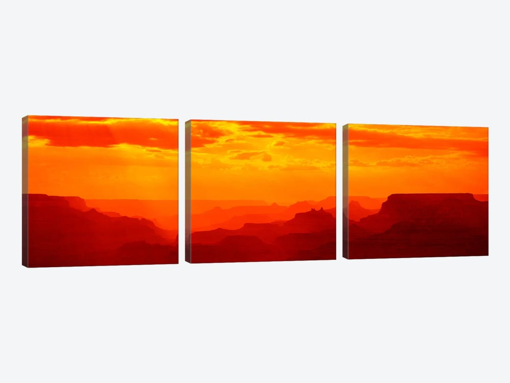 Mesas and Buttes Grand Canyon National Park AZ USA 3-piece Canvas Artwork