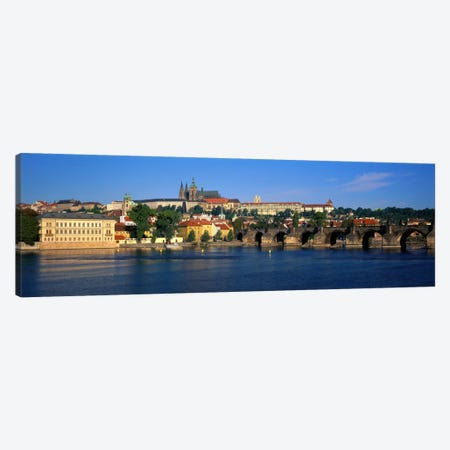 Vitava River Charles Bridge Prague Czech Republic Canvas Print #PIM2069} by Panoramic Images Canvas Print