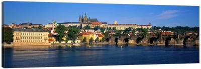 Vitava River Charles Bridge Prague Czech Republic Canvas Art Print