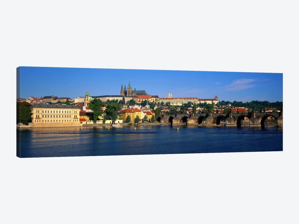 Vitava River Charles Bridge Prague Czech Republic 1-piece Canvas Print