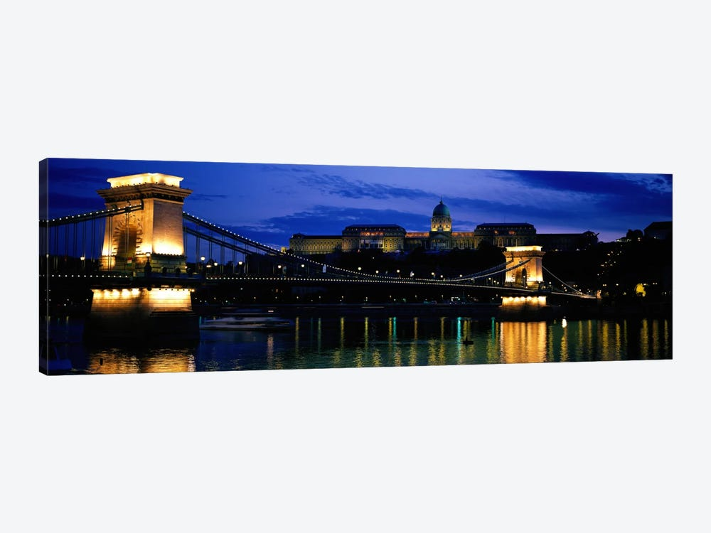 Szechenyi Bridge Royal Palace Budapest Hungary by Panoramic Images 1-piece Art Print