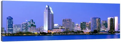 Skyline, San Diego, California, USA Canvas Art Print
