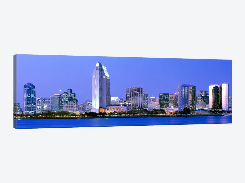 Skyline, San Diego, California, USA 1-piece Canvas Art Print