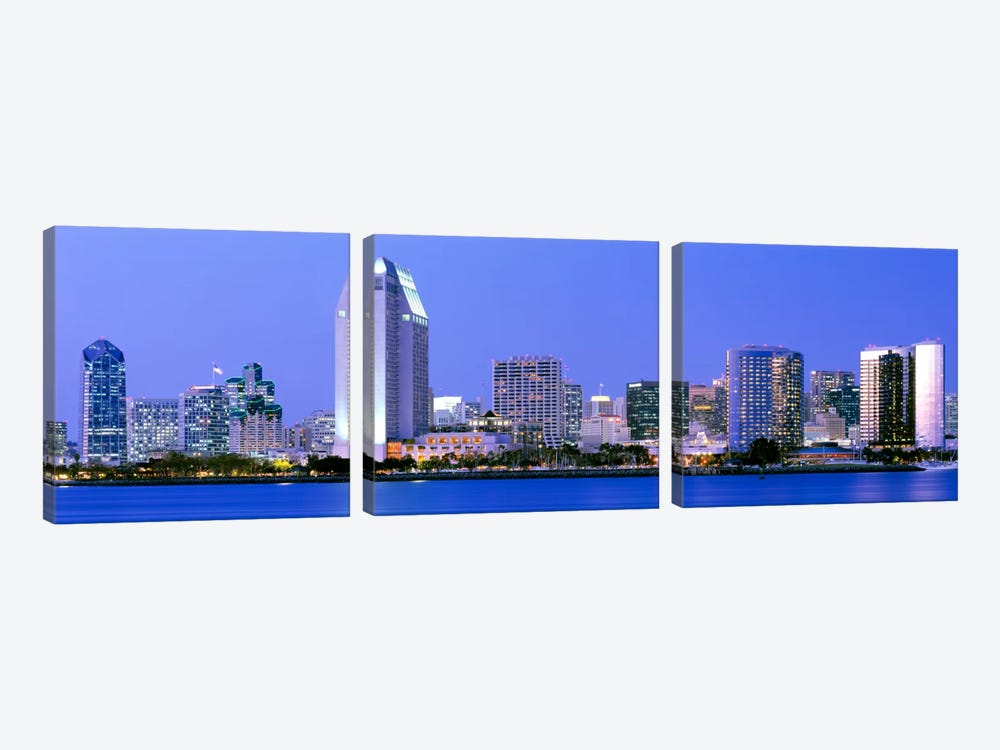 Skyline, San Diego, California, USA 3-piece Art Print