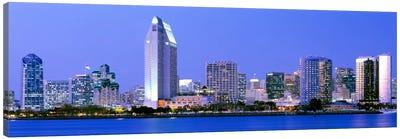 Skyline, San Diego, California, USA Canvas Art Print