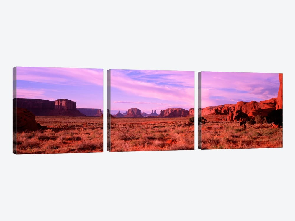 Distant View, Monument Valley, Navajo Nation, USA by Panoramic Images 3-piece Canvas Art