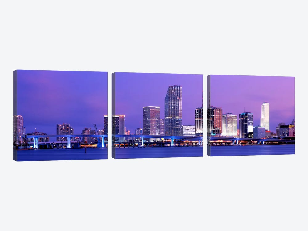 Miami FL by Panoramic Images 3-piece Canvas Art Print