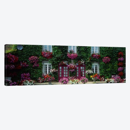 Flowers Breton Home Brittany France Canvas Print #PIM2078} by Panoramic Images Canvas Art