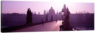 Charles Bridge Moldau River Prague Czech Republic Canvas Art Print