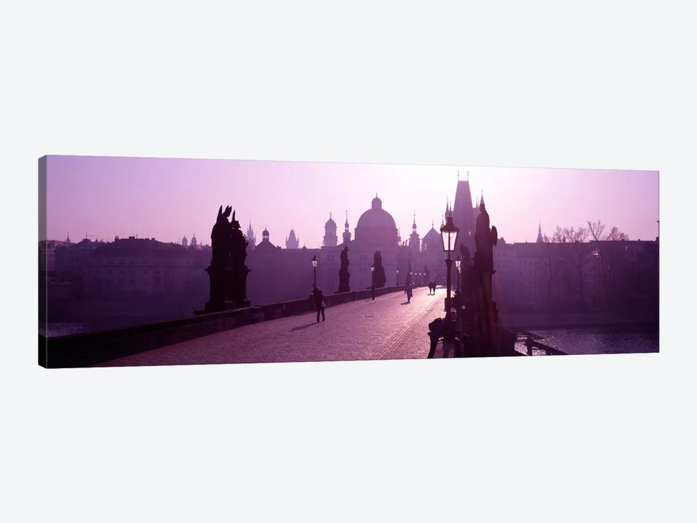 Charles Bridge Moldau River Prague Czech Republic by Panoramic Images 1-piece Canvas Wall Art
