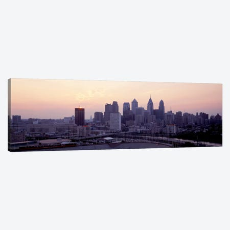 Sunrise Philadelphia PA USA Canvas Print #PIM2085} by Panoramic Images Canvas Artwork