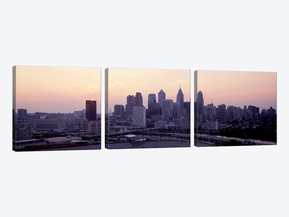 Sunrise Philadelphia PA USA by Panoramic Images 3-piece Canvas Print