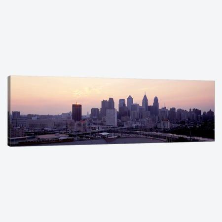 Sunrise Philadelphia PA USA Canvas Print #PIM2085} by Panoramic Images Canvas Artwork