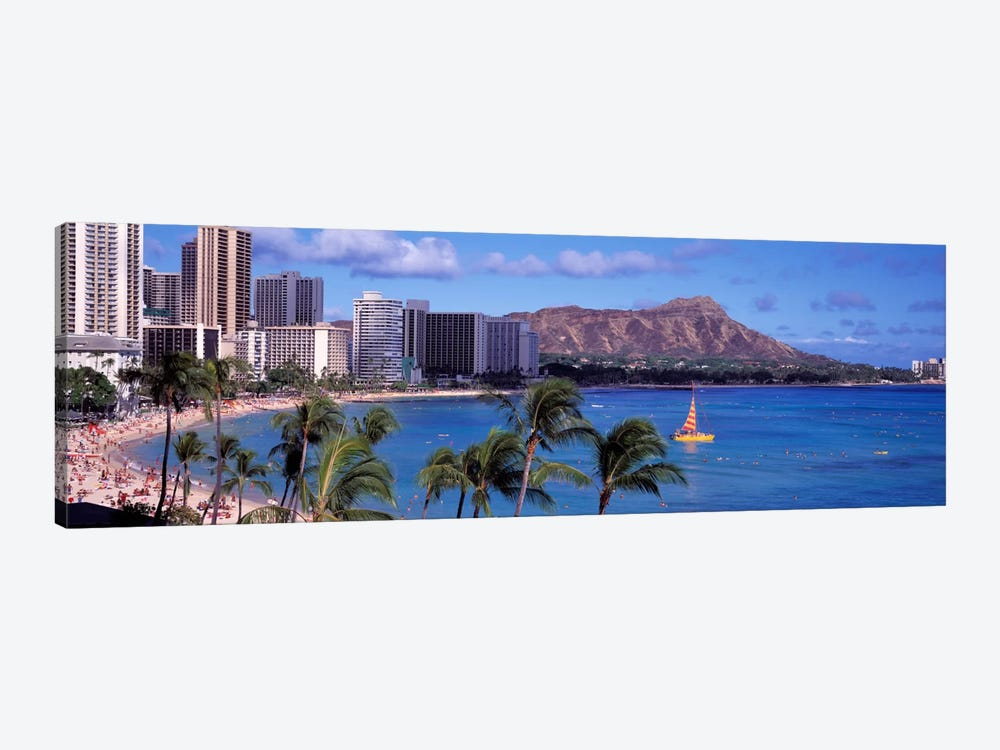 Waikiki Beach, Honolulu, Hawaii, USA by Panoramic Images 1-piece Canvas Print