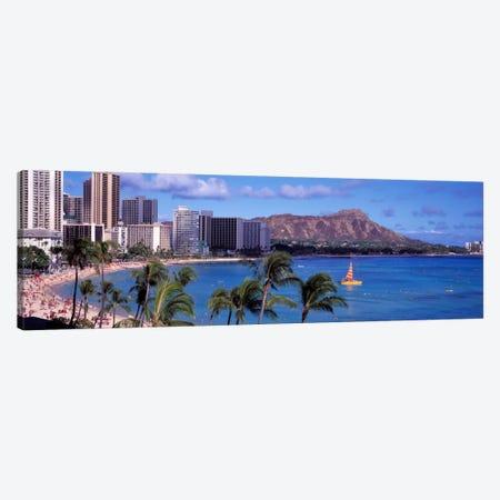 Waikiki Beach, Honolulu, Hawaii, USA Canvas Print #PIM208} by Panoramic Images Canvas Artwork