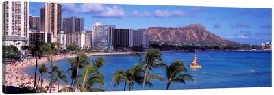 Waikiki Beach, Honolulu, Hawaii, USA Canvas Art Print