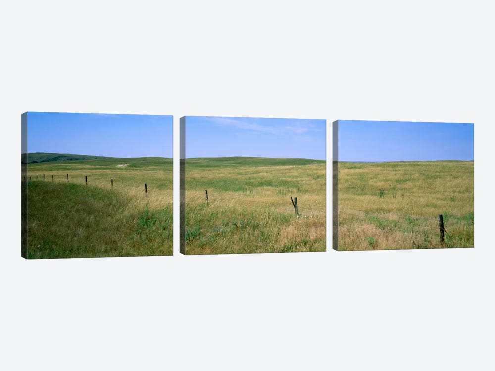 Prairie Landscape, Cherry County, Nebraska, USA by Panoramic Images 3-piece Canvas Artwork