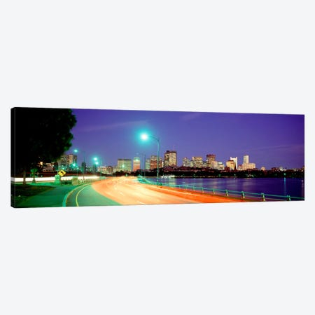 USAMassachusetts, Boston, Highway along Charles River Canvas Print #PIM2096} by Panoramic Images Canvas Print